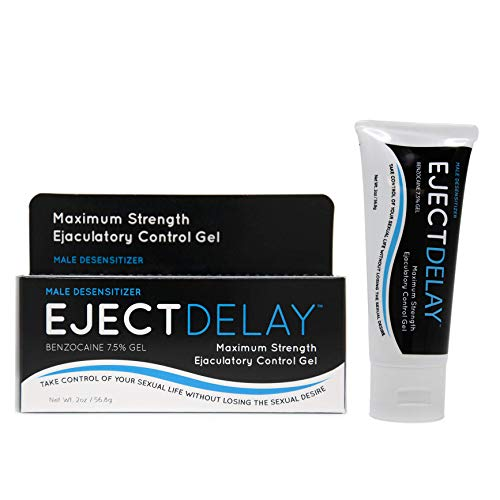 EjectDelay - 2oz Tube - Maximum Strength Ejaculation Control - Male Desensitizer - Improves Longer Lasting Climax for Men & PE or Premature Ejaculation