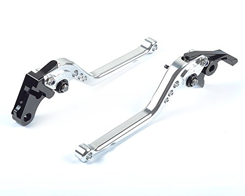 Tencasi Silver CNC Long Adjustable Brake Clutch Lever for Triumph T300 alle Modelles, Tiger 1200 Explorer 2012-2018, Trophy/SE 2013-2017