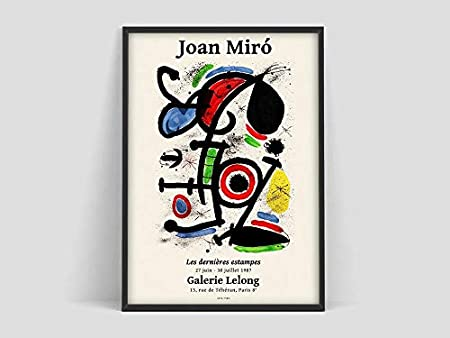 Póster Joan Miró, Lámina Galerie Maeght, Lámina Joan Miró, Lámina Joan Miro, Lámina, Cuadros, Póster, lienzo sin marco N 60x80cm