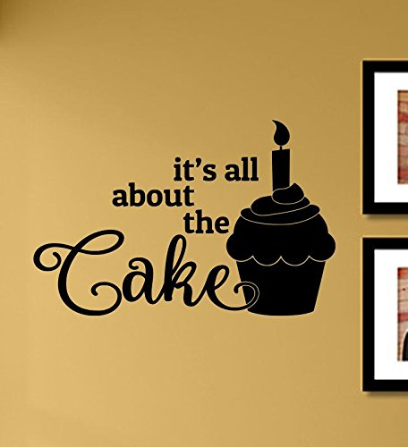 ake Cupcake Birthday Candle Vinyl Wall Art Decal Sticker ()
