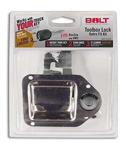 Bolt 7022698 Toolbox Latch Retrofit Kit for Ford and Mazda Standard Cut Keys