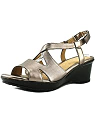 Naturalizer Womens Villette Leather Open Toe Casual Slingback Sandals
