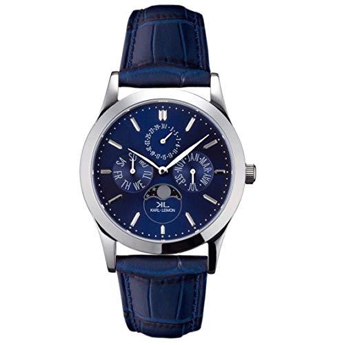 KARL-LEIMON Japanese Moonphase Watch Classic Pioneer Blue