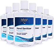 Natural Concepts Hand Sanitizer Gel, 6-Pack, 8 oz Bottles, 65% Ethyl Alcohol, Protect Against Germs On-The-Go