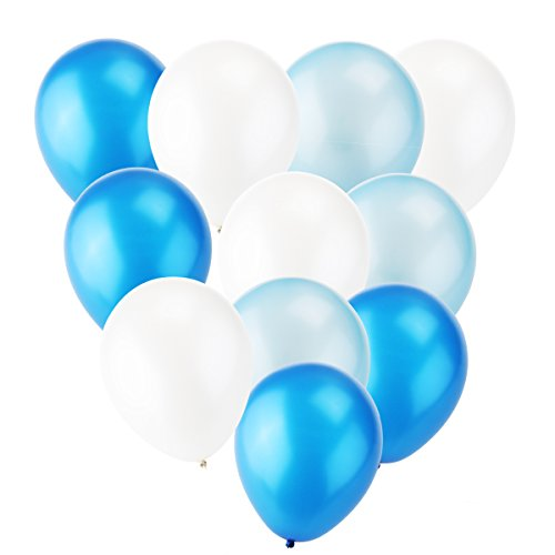 white and light blue balloons - 4