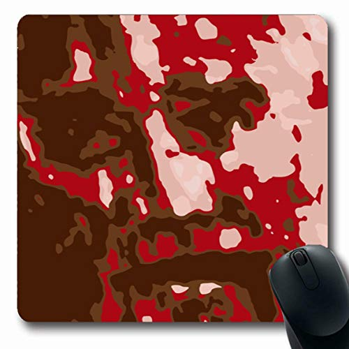 Ahawoso Mousepads for Computers Figuration Red Brush Passion Jesus Clip Pencil Watercolor Charcoal Christ Christian Christianity Oblong Shape 7.9 x 9.5 Inches Non-Slip Oblong Gaming Mouse Pad (Clip Christ Jesus)