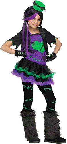 Furry Frankie Monster Costumes (Fun World Big Girl's Funkie Frankie Costume Childrens Costume, Multi, Medium)