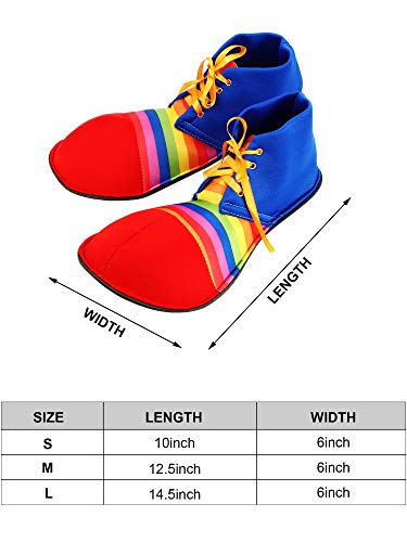 Unisex Clown Shoes Rainbow Halloween Costumes, Accessories, Props and Kits (M, Strip Colorful) - http://coolthings.us