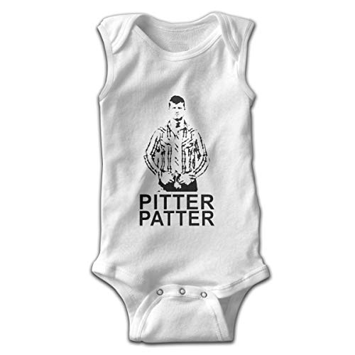 Mrshelp Pitter Patter Let's Get At'er Sleeveless Infant Jumpsuit Cute Toddler Summer Bodysuits White ()