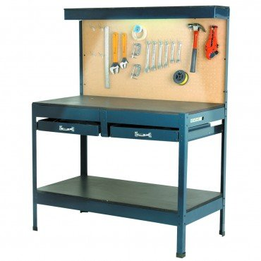 Multipurpose Workbench with Lighting and Outlet (Garage Bench Cabinets Work &)