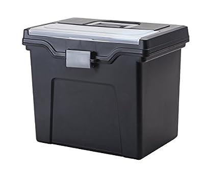IRIS Slim Letter Size Portable File Box