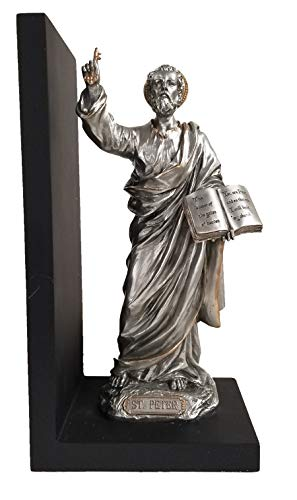 St. Peter Bookend with Pewter Finish and Gold Trim ()
