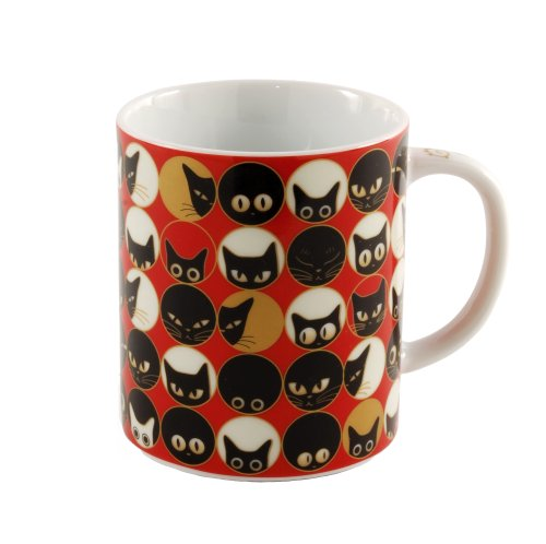 Miya Cat Eyes Mug, Red - Asian Eye Cat