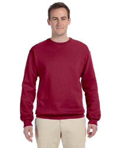 Jerzees Men's Ribbed Collar With Spandex Sweatshirt, XXXX Large, Crimson ()