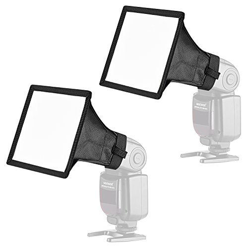 Neewer 2-Pack 6x5 inches/15x13 Centimeters Speedlite Softbox Flashlight Diffuser Kit for Canon 580EX II 600EX-RT, YongNuo YN560 III, Nikon SB-900 SB-910, Neewer TT560 TT520 TT660 and Other DSLR Flash