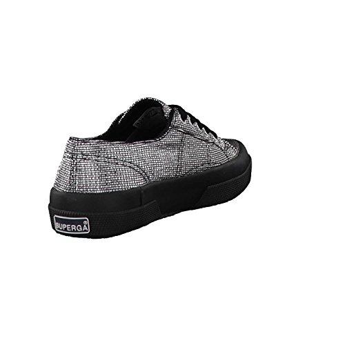 Silver noir 2750 Femme grey plisselamew Basses Chaussures Superga Argent 8F7q1Fc