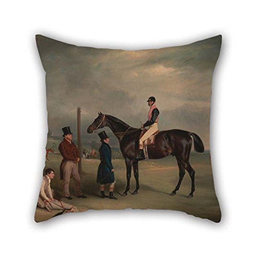 christmas-gift Oil Painting John Ferneley - Euxton, with John White Up, at Heaton Park Pillow Cases Best for Family Saloon Wedding Bench Dinning Room Kids 20 X 20 Inches / 50 by 50 cm(Both Sides)]()