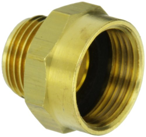 Moon 357-1010751 Brass Fire Hose Adapter, Nipple, 1