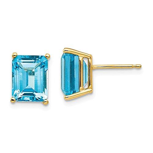 ld Green Cut Blue Topaz Earrings (Blue Topaz Faux Earrings)