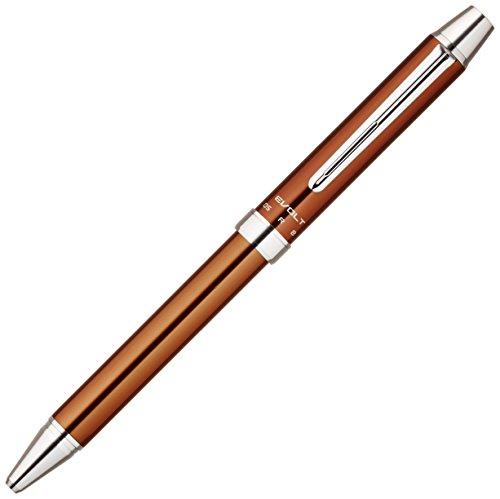 2 Color Ballpoint Multi Pen - Pilot 2 Plus 1 Evolt 2 Color 0.7mm Ballpoint Multi Pen, 0.5mm Mechanical Pencil, Brown Body (BTHE-1SR-BN)