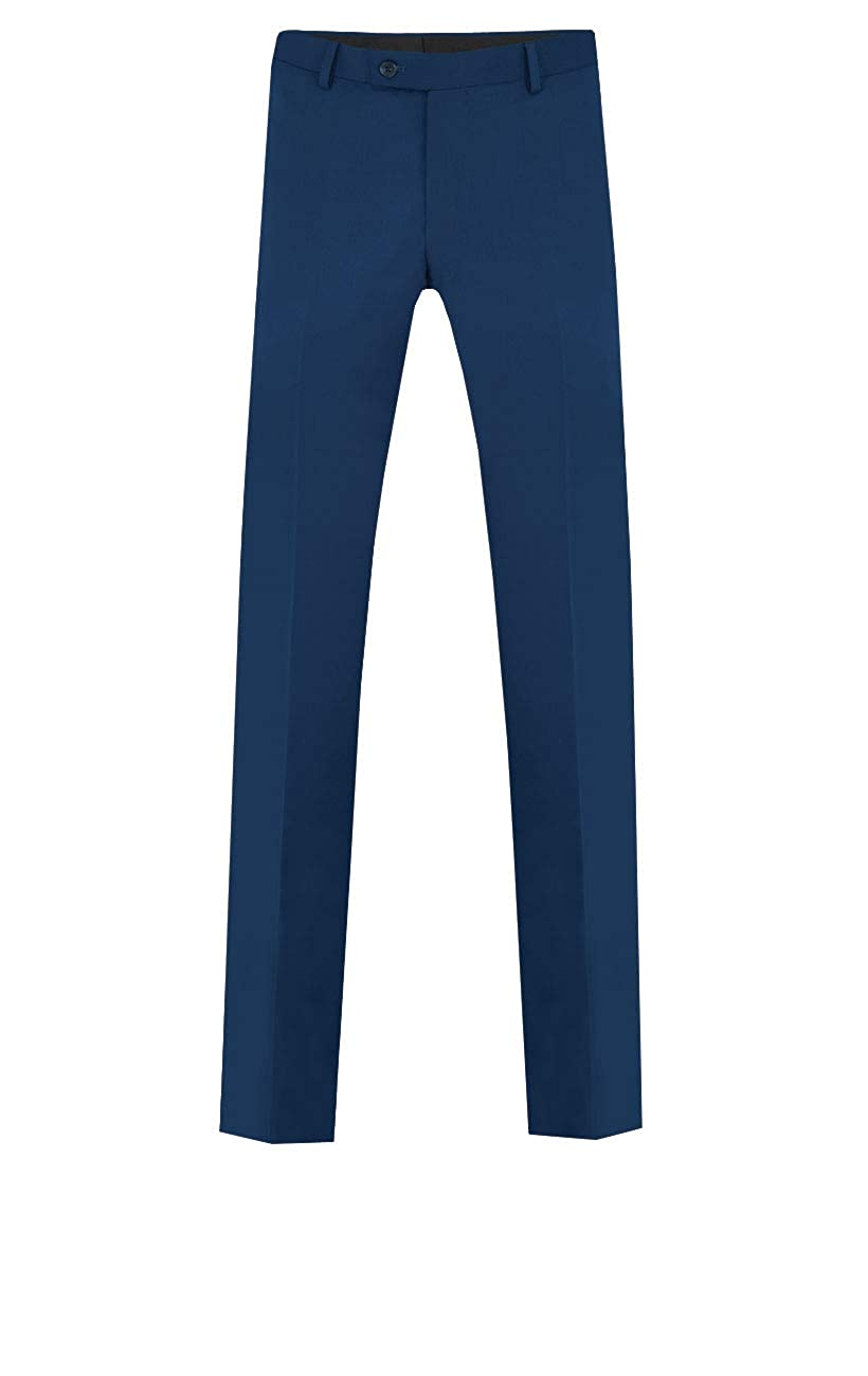 Dobell Mens Bright Blue Suit Pants Tailored Fit