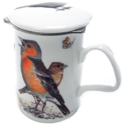 Roy Kirkham Garden Birds Lancaster Mug with Infuser ()