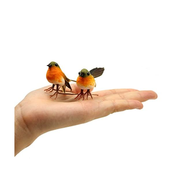 Yolococa-Very-Cute-Artificial-Feather-Robin-Bird-Christmas-Tree-Decoration-Craft