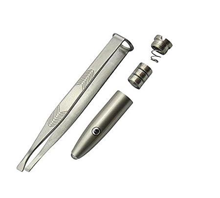 acero inoxidable Heel Inna Cejas Pinzas Pinzas con luz LED pinzas de acero inoxidable de precisi/ón Make Up Pinzas Depilaci/ón Pinzas 8.8/×0.8/×1.6CM plata