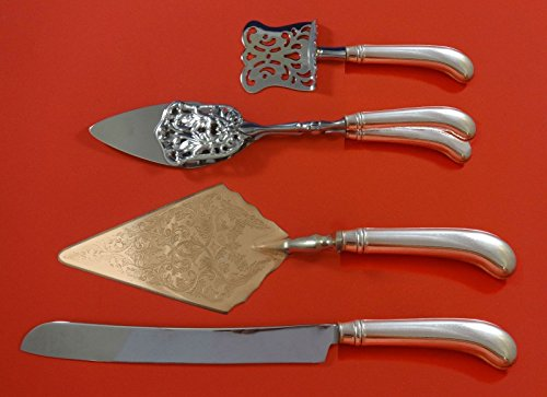 Rattail Antique by Reed Barton Dominick Haff Sterling Silver Dessert Set Custom Dominick & Haff Rat Tail
