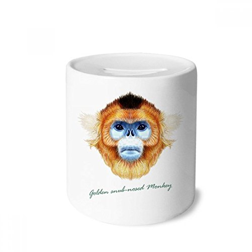 ub-nosed Monkey Animal Money Box Saving Banks Ceramic Coin Case Kids Adults ()