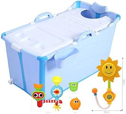 折りたたみ風呂TubAdultポータブル保冷バスタブ、インフレータブルバスタブ、ストレートレッグバスタブ折りたたみ拡張しました (Color : Blue)