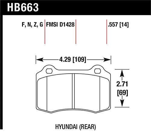 Hawk 10 Hyundai Genesis Coupe  Dtc-60 Race Rear Brake Pads