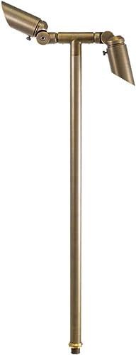 VOLT Twinnovator Adjustable 12V Path Light, Brass