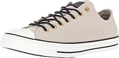 Converse Chuck Taylor All Star Leather/Corduroy Lo, Frayed Burlap/Egret/Black, Men's 13 Medium
