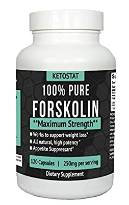 120ct Potent Forskolin Extract For Weight Loss Fat Burner Aid | Forskolin Capsules Made From High Quality Coleus Forskohlii Root Extract For Fat Loss, Appetite Suppressant, Asthma, High Blood Pressure