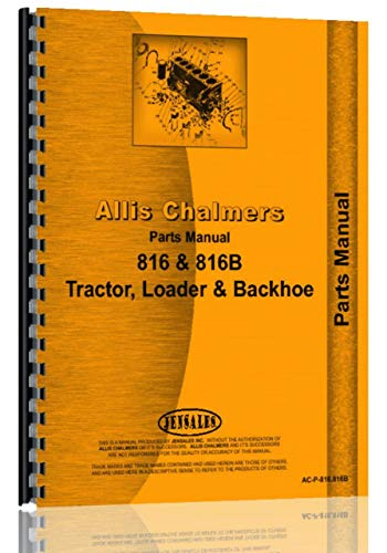 Allis Chalmers 816 Tractor Loader Backhoe Parts Manual