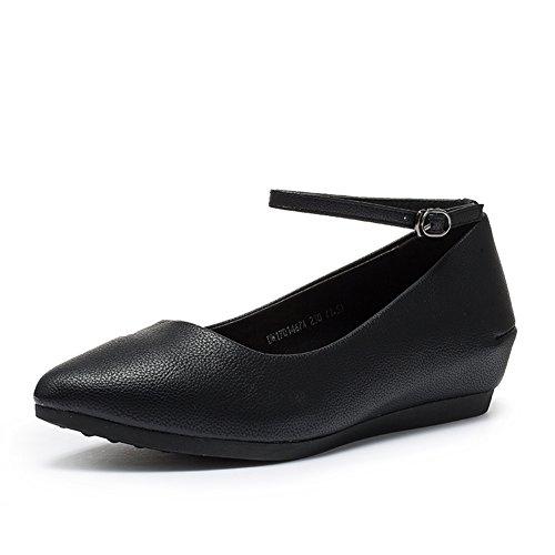 PUMPS Lady Schuhe IM Herbst,Die Steigung und Die Spitze Des wortes Schnalle Schuhe-A Fußlänge=22.8CM(9Inch)