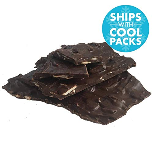 Notty Salted Almond Bark - 2 Bags - Dark Protein Chocolate Mixed with Real Almonds and Himalayan Pink Salt - Keto Friendly, Diabetic Friendly, Whey Protein, Guilt Free, NON-GMO, Zero Added Sugar
