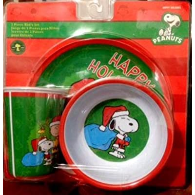 Click for Peanuts Happy Holidays 3pc. Dinnerware Set