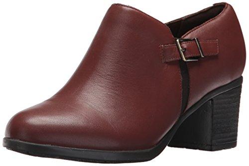 - Easy Spirit Women's Batalia Ankle Bootie, Dark Brown Leather, 7.5 W US