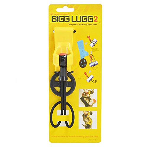 Bigg Lugg Power Tool Hooks - Superior Parts BL2-1BM Original Bigg Lugg 2 - Rubber Belt Hook Tool Holder System with 1 Bungee Strap