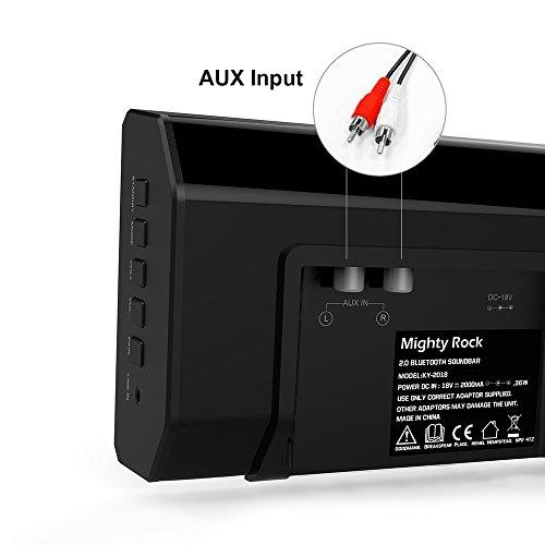 Mighty Rock Sound Bar, Bluetooth Soundbar 2.1 Channel Home Theater Speaker, Perfect Soundbar for TV, Smartphones & Tablets(Black)