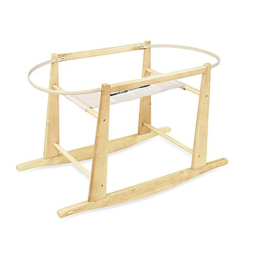 Rocking Moses Basket Stand Natural (Stand With Baskets)