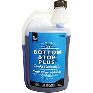 OLPRO Bottom & Top PLUS Two in One Toilet Fluid & Rinse for Caravans , Motorhomes and Camping