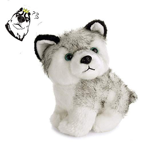 Stuffed Animal Husky Dog For Baby Kids Adults Boys Girls,Sealive Cute Realistic Small Dog Plush Animal Pup Toy Best For Birthday,Xmas,Party,Home,Office Decor(7