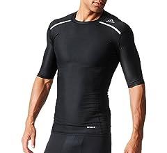 adidas Men's Training Techfit Climachill Short Sleeve Tee