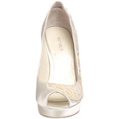 Hombresbur Mujeres 04324 Open-toe Pump Off White