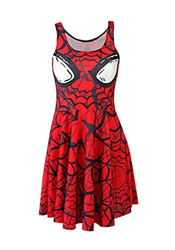 GoldBucket Women Super Hero Costumes (S, Spider Men 1)]()