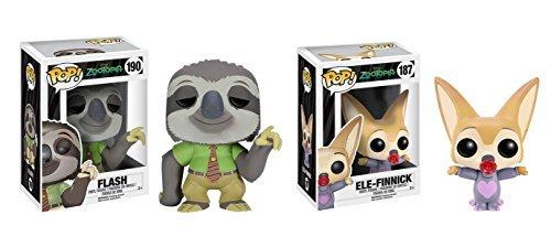 Funko POP Zootopia: Flash and Ele-Finnick 2 Piece BUNDLE