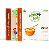 2pk 8X Organic Original Quinoa Infant & Baby Cereal Travel Packs w/Naturally Rich in Vitamins & Mineral, Complete Protein. Easiest First Foods to Digest. by WutsupBaby - 4oz (8 Pack x 0.5oz)